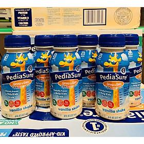 Combo 06 chai Sữa Pediasure Nước Grow & Gain Optigro Vanila Shake mẫu mới 2020 Của Mỹ 237ml