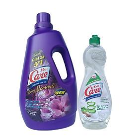 Nước giặt xả 5in1 Mr.Care hương Romantic 2.4kg + Tặng 1 chai nước rửa chén TrueCare Thiên nhiên 750g