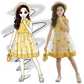 VL97Size110-160 (15-40kg)Đầm cho bé gái, kiểu dáng công chúaThời trang trẻ Em hàng quảng châu