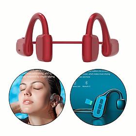 Bone Conduction Bluetooth Headphones Open-Ear Wireless Headsets HiFi Stereo w/ Mic Waterproof Sports Earphone for iOS