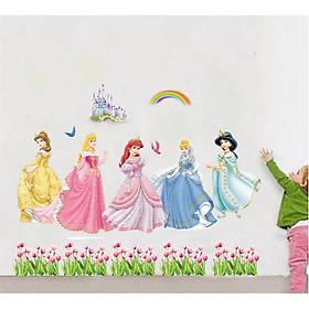 Decal trang trí dán tường hình công chúa cho bé ABC1018