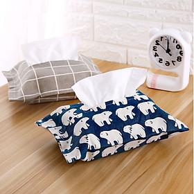 Hình đại diện sản phẩm Bộ 2 Túi vải đựng khăn giấy xinh xắn kiểu Nhật ( giao ngẫu nhiên)
