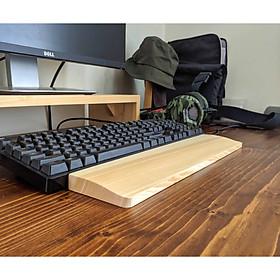 Tấm Lót Gỗ Kê Bàn Phím, Phụ Kiện Kê Tay Máy Tính/Laptop Ván Dày