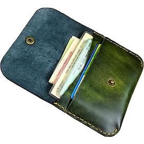 Ví da nam mini đựng giấy tờ, thẻ ATM da bò cao cấp