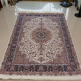 Thảm Trang Trí cao cấp nhập khẩu Đức Isfahan 901 Ivory