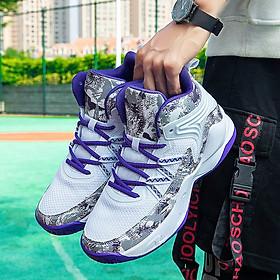 Giày bóng rổ nam A23 - màu trắng tím