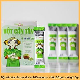 Bột cần tây hữu cơ nguyên chất sấy lạnh Dalahouse - Hộp 20 gói nhỏ 3gr định lượng sẵn cho 1 lần sử dụng - Hỗ trợ giảm cân, cao huyết áp, ngăn chặn gia tăng mỡ trong máu