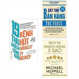 Combo sách kinh tế hay : 19 kênh thu hút khách hàng dành cho công ty khởi nghiệp + Sát thủ bán hàng- The force +Dịch vụ khách hàng 5 sao- Combo sách dành cho những người muốn bán hàng thành công - Tặng kèm bookmark thiết kế AHA