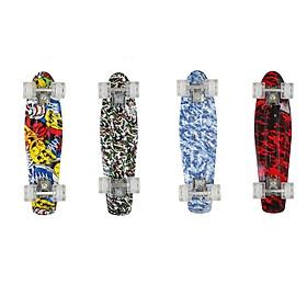 Ván Trượt  Nhựa Skateboard Penny Bánh Xe Có Đèn Phát Sáng (Giao Màu Ngẫu Nhiên)