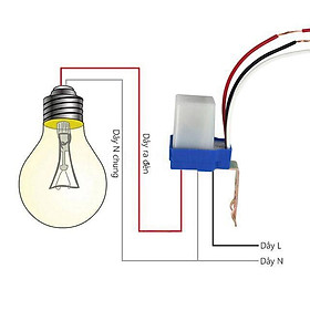 Công tắc cảm biến ánh sáng bật tắt tự động AS10 220v 10A