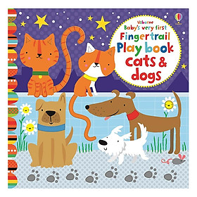 Usborne Baby very first Fingertrail Play book cats and dogs