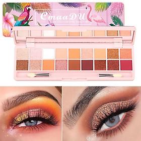 18 Colors Glitter Matte Shimmer Eyeshadow Palette Powder Long-lasting Waterproof Easy To Color Nude Eye Pigmented