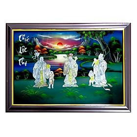 Tranh sơn mài tranh phong thủy Phúc Lộc Thọ SM00008 60x40cm