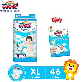 Tã Dán Goo.n Premium Cao Cấp Gói Cực Đại Size XL46 (46 Miếng) - Tặng Bịch 5 Miếng Cùng Size