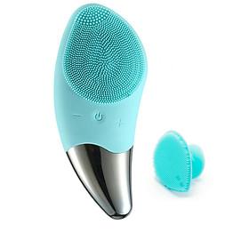 Máy Rửa Mặt Làm Da Sạch Sâu, Chống Lão Hóa Và Nâng Cơ Da  HTS Facial Brush Ion Sonic-6 Cấp Tốc Độ Tích Hợp Sóng Âm-BR 020+ Dụng Cụ Rửa Mặt và Massage Mặt Silicon Mềm Dẻo HT SYS Facial Cleansing Fad-[ COMBO 01]