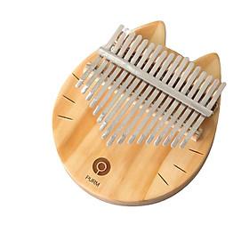 Đàn kalimba 17 phím gỗ nguyên khối Mahagony GECKO000009 - MÈO NEKO GỖ NHẬT BẢN
