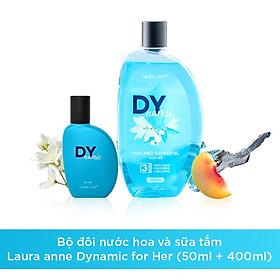 Bộ đôi nước hoa (50ml) và sữa tắm (400ml) Laura anne Dynamic for her