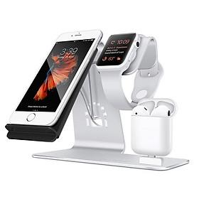 Sạc Không Dây 3 Trong 1 Dành Cho Iphone/ Iwatch/ Airpod/ Samsung S8