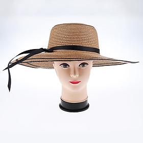 Women Floppy Wide Brim Straw Hat Fordable Summer Sun Beach Hat Beige