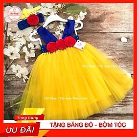 Đầm Cho bé  Đầm Công Chúa Bạch Tuyết Hoa Hồng Cuốn