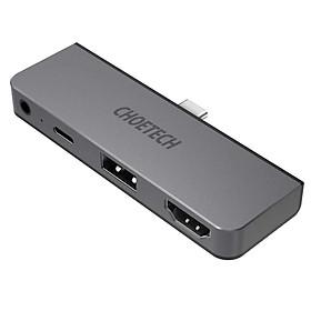 Hub sạc nhanh chia cổng PD Type-C đa năng 4 in 1 hiệu CHOETECH M13 cho Macbook / điện thoại mở rộng cổng sạc nhanh Type-C PD 3.0, 1 cổng USB 3.0, cổng HDMI chuẩn 4k, cổng AUX 3.5mm - Hàng chính hãng