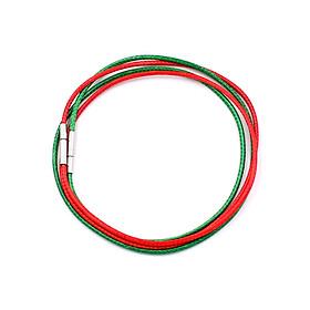 Combo 2 sợi dây vòng cổ cao su - xanh lá + đỏ DCSXLO1