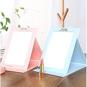 [COMBO 2 CHIẾC] Gương trang điểm để bàn gập gọn tiện dụng - Chất liệu giấy thân thiện an toàn