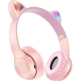 Tai Nghe Mèo Bluetooth, Có Đèn LED Headphone - Tai Mèo Bluetooth Không Dây Dễ Thương Có Mic Hỗ Trợ Điều Chỉnh Âm Lượng - Tai Nghe Bluetooth Chụp Tai Không Dây - Hàng nhập khẩu - HP000028