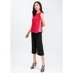 Set áo lửng phối sọc quần lửng Culottes 49002-18001