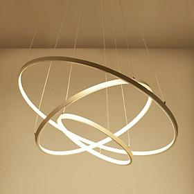 Đèn thả trần - đèn trần trang trí phòng khách 3 vòng to 3 chế độ màu ánh sáng CICERLAMP