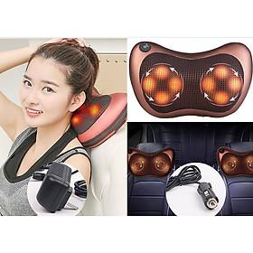 May matxa  gối massage hồng ngoại 8 bi massage trị liệu. Tặng kèm dụng cụ  ngoáy tai có đèn tiện lợi