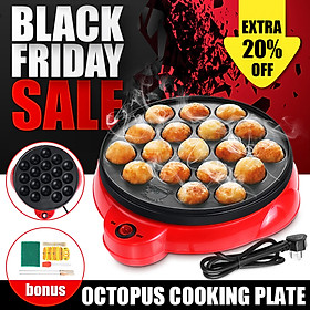 18 Hole Electric Octopus Ball Grill Pan Maker Stove Cook Set Plate 650W Takoyaki