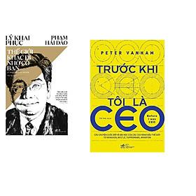 Combo 2 cuốn sách: Thế giới khác đi nhờ có bạn + Trước khi tôi là CEO