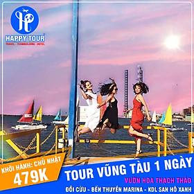 Tour Vũng Tàu 1 ngày - Vườn Hoa Thạch Thảo - Đồi Cừu - Bến Thuyền Marana - KDL San Hô Xanh - Happy Tour
