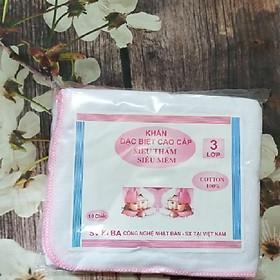 Khăn xô sữa 3 lớp cho bé 0-5 tuổi mẫu ngẫu nhiên (20 cái)