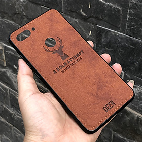 Ốp lưng Xiaomi Mi 8 Lite giả da con hươu DEER - Nhựa dẻo TPU