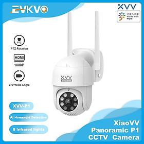Xiaovv - Phát hiện hình người bằng AI - MiHome APP HD 1080P Rotate Outdoor Waterproof Wireless PTZ IP Camera CCTV WIFI Home Security Surveillance CCTV Camera Infrared Night Vision Two-Way Audio