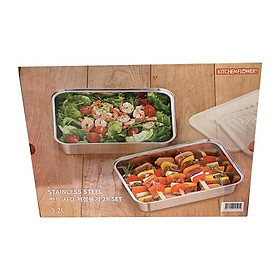 Kitchen flower bed square storage container set of 2