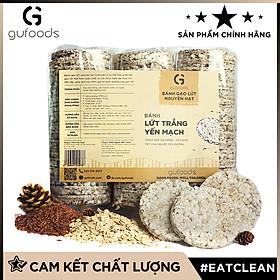 Bánh gạo lứt ăn kiêng, tập GYM GUfoods - có 3 lựa chọn yến mạch, huyết rồng, tím than (500g)