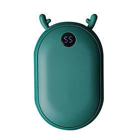 Portable Reusable Hand Warmers 25-55℃ Temperature Setting 2 in 1 Rechargeable 10000mAh Power-Banks Pocket Handwarmer