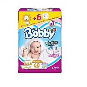 Miếng lót Bobby Fresh Newborn 2-60 miếng (TẶNG 6 MIẾNG TẢ QUẦN SIZE M)