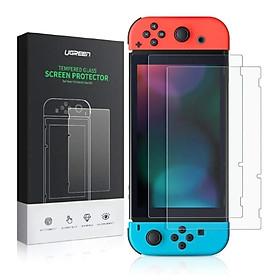 Kính cường lực trong suốt, độ cứng 9H cho máy game Nintendo (2 miếng/hộp) Ugreen ACC50728LP153 Hàng chính hãng