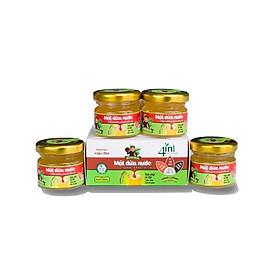 Hộp 4 hũ (20ml/hũ) Mật Dừa Nước cô đặc - Mật Dừa Nước Ông Sáu - Đặc sản Cần Giờ - Thuần chay, đường huyết thấp, giàu Vitamin và muối khoáng