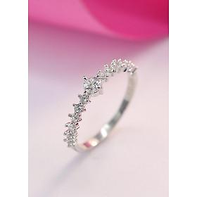 Nhẫn bạc nữ đẹp đính đá trắng tinh tế NN0213