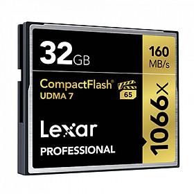 Thẻ Nhớ  Lexar CF 32GB Professional 1066x  (160 Mb/s) - Hàng chính hãng