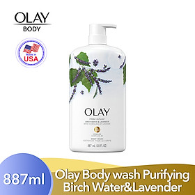 Sữa tắm Olay Body Wash Fresh Outlast - Purifying Birch Water & Lavender 887ml