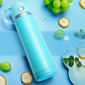 Bình giữ nhiệt 500ml thiết kế nắp cốc đi kèm tiện lợi inox 304