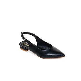 Hình đại diện sản phẩm Giày Nữ Đế Bệt Mũi Nhọn Thời Trang Phối Dây Erosska EL001 (Màu Đen)