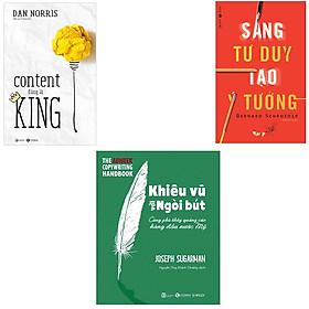 Bộ sách về nghệ thuật viết content và sáng tạo: Content Đúng Là King - Khiêu Vũ Với Ngòi Bút - Sáng Tư Duy Tạo Ý Tưởng