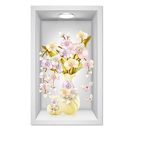 Decal dán tường lọ hoa 3D LoHoaDon_035